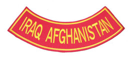 RED IRAQ AFGHANISTAN MARINES ROCKER BACK PATCHE FOR VEST JACKET NEW - $12.99