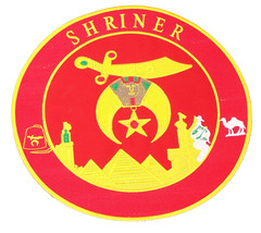 Shriner Red and Yellow in Round Center Iron on ... - $19.99
