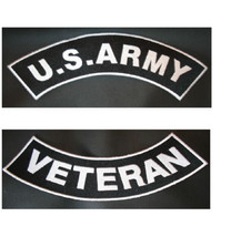 US Army Veteran Vet PATCH SET Biker Motorcycle ... - $21.99