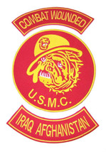 US MARINES CORPS MARINE BULL DOG IRAQ AFGHANISTAN PATCH SET COMBAT WOUNDED - $37.99