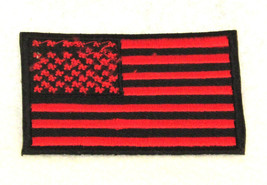 US flag Red and black Small Badge Patch for Bik... - $5.99