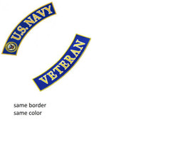 US Navy Veteran Back Patch set For jacket vest ... - $21.99