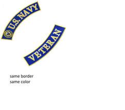 US Navy Veteran Back Patch set For jacket vest Biker Motorcycle Vets New... - $21.99
