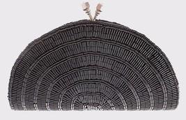 CARLO FELLINI BLACK BEADED EVENING CLUTCH WITH LONG & SHORT CHAIN $95. - $14.99