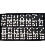 dominoes double nine (9) New D9 Black Dominoes Jumbo Spinner Free Shippi... - $36.95
