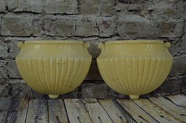 1982 HOMCO 6061 Set of Two Wall Pockets/Planters/Sconce - $19.78