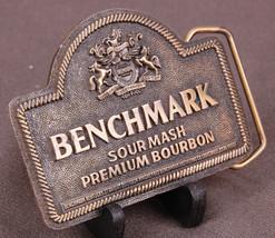 Vtg Benchmark Sour Mash Premium Bourbon Belt Buckle-Indiana Metal Craft-... - $20.56