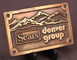 Vtg SEARS Denver Group Solid Brass Belt Buckle-Lochmoeller Days Winner 1... - $23.36