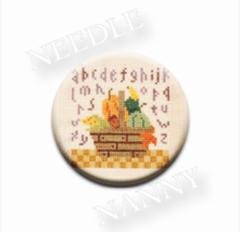 Autumn Basket Needle Nanny needle minder cross stitch Lizzie Kate Quilt Dots - $12.00