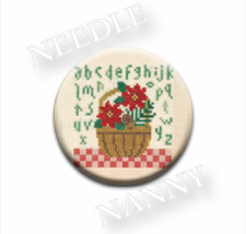 Winter Basket Needle Nanny needle minder cross stitch Lizzie Kate Quilt Dots - $12.00