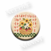 Summer Basket Needle Nanny needle minder cross stitch Lizzie Kate Quilt Dots - $12.00