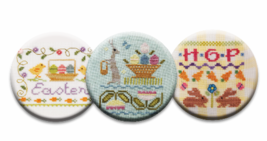 Easter Magnet Collection (3 pcs) interchangeable jewlery Quilt Dots - $10.00