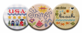 Summer Fun Magnet Collection (3 pcs) interchangeable jewlery Quilt Dots - $10.00