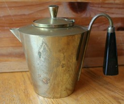 Brass Tea pot Vintage Buddha engraving Antique stove top coffee kettle A... - $47.03