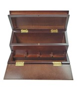 The Bombay Company Mahogany Wood Box for Jewelry Letters Two Lids Vintag... - $24.20