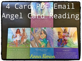 4 Card PDF Email Psychic Reading done by  Angel... - $22.22