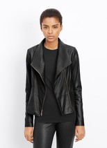 NEW $995 Vince Leather Scuba Jacket, Must have item! - $431.10