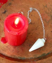 Spellcast White Jade Pendulum Removes Distraction Aids Decisions + Free ... - $30.00