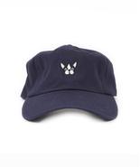 Navy Blue Dog Dad Cap, Cute Unisex Dad Hat, Baseball Cap - $18.80