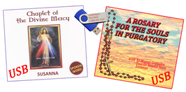 USB DRIVE- A ROSARY FOR THE SOULS IN PURGATORY & CHAPLET OF THE DIVINE MERCY