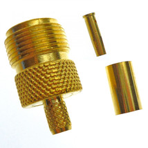 N Type Female Crimping Connector Gold Plated Inline - $4.78