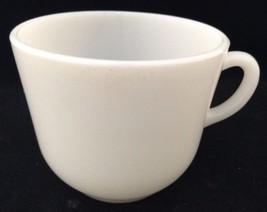 "Vtg Hazel Atlas Coffee Mug Tea Cup Ear Handle White Glass Platonite USA 3"" - $12.81"