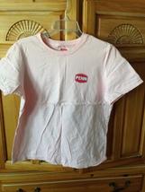 women's pink shirt with fish motif size medium by penn - $20.00