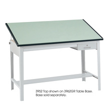 "Precision Tabletop 60 x 37 1/2"" Green Tinted - $272.99"