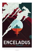 Enceladus Space Exploration Poster 440mm x 294mm Nasa Saturn Cassini Shu... - $16.13+