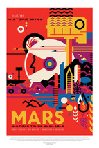 Mars Space Exploration Poster 440mm x 294mm Earth Voyager Shuttle Pathfi... - $17.81+