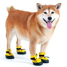 Arctic Winter Dog Boots for Dogs Yellow XS fleece lining Keep Warm - $15.25