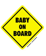 Baby on Board self cling car window sticker 14cm car safety warning sign  - $3.20