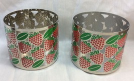 Pillar Candle Holder For Bath and Body Works 3-Wick Candles, Strawberry Design.  - $10.50