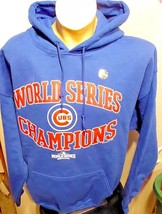 Chicago Cubs 2016 World Series Champions Pullover Hooded hvwt Sweatshirt... - $35.99