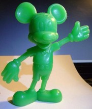 VINTAGE~LOUIS MARX~MICKEY MOUSE GREEN PLASTIC FIGURE~W DISNEY PRODUCTION... - $11.29