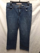 "Faded Glory Denim Jeans Sz 8 Misses Petite Boot Cut 32"" waist 29"" inseam - $7.69"
