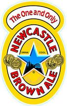 Newcastle Geordie ale shaped vinyl sticker 150mm x 100mm  - $3.27