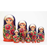 "Volga Maiden Nesting Doll - 10"" w/ 10 Pieces - $78.00"