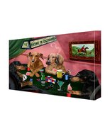 House of Dachshund Dogs Playing Poker Canvas 16 x 20 - $98.99