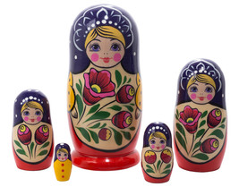 "Volga Maiden Nesting Doll - 6"" w/ 5 Pieces - $29.00"