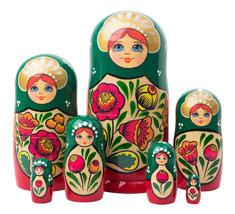 "Volga Maiden Nesting Doll - 8"" w/ 7 Pieces - $48.00"