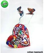 David Gerstein Pop Art Open Heart Metal Sculpture Contemporary Modern Art - $167.35