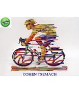David Gerstein Modern Art CHAMPION Bicycle Racer Metal Sculpture bike Po... - $272.00