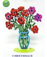 Sculpture by David Gerstein Modern Metal ART Sculpture Poppies Flower Vase - $229.00