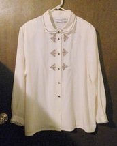 Koret Woman's Ivory Embroidered Blouse Size 20W - $8.00