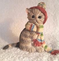 Lenox Cat Kitten Figurine ALL BUNDLED UP  2006 ... - $14.95