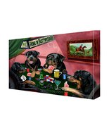 House of Rottweiler Dogs Playing Poker Canvas 18 x 24 - $128.69