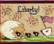 Liberty Birds patriotic cross stitch chart The Needle's Notion