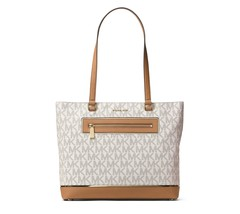 MICHAEL Michael Kors Frame Out Item Large North South Tote (Vanilla) - $232.63