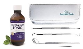 Dental Herb Company Tooth and Gums Tonic 18oz Bottle + 3-Piece Dental Hy... - $39.19